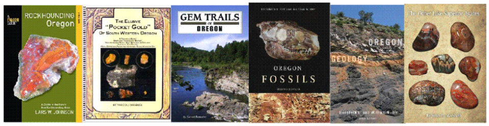Author books for the Meet the Author special events at the Portland Gem and Mineral Show.